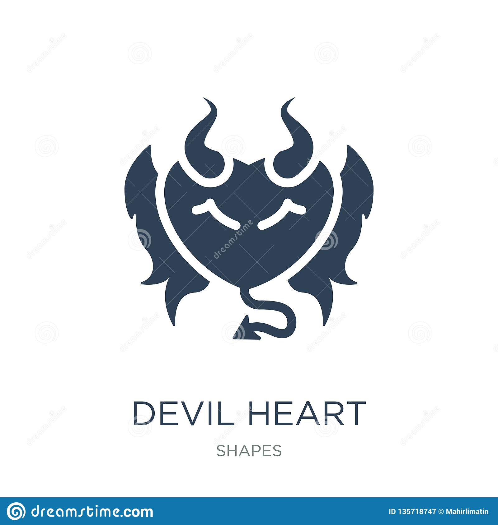 devil heart with wings icon in trendy design style. devil heart with wings icon isolated on white background. devil heart with