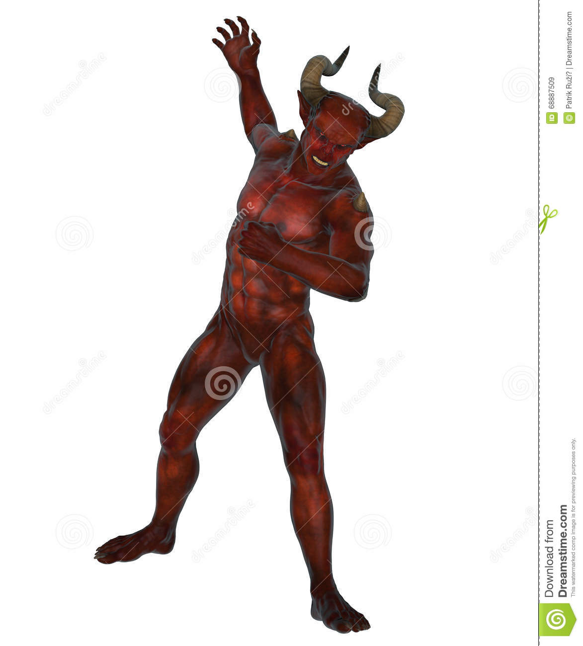 Devil From The Hell Stock Illustration