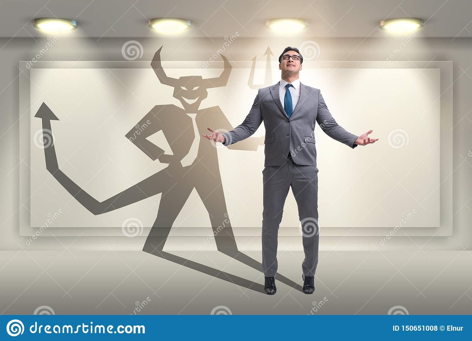 The devil hiding in the businessman - alter ego concept