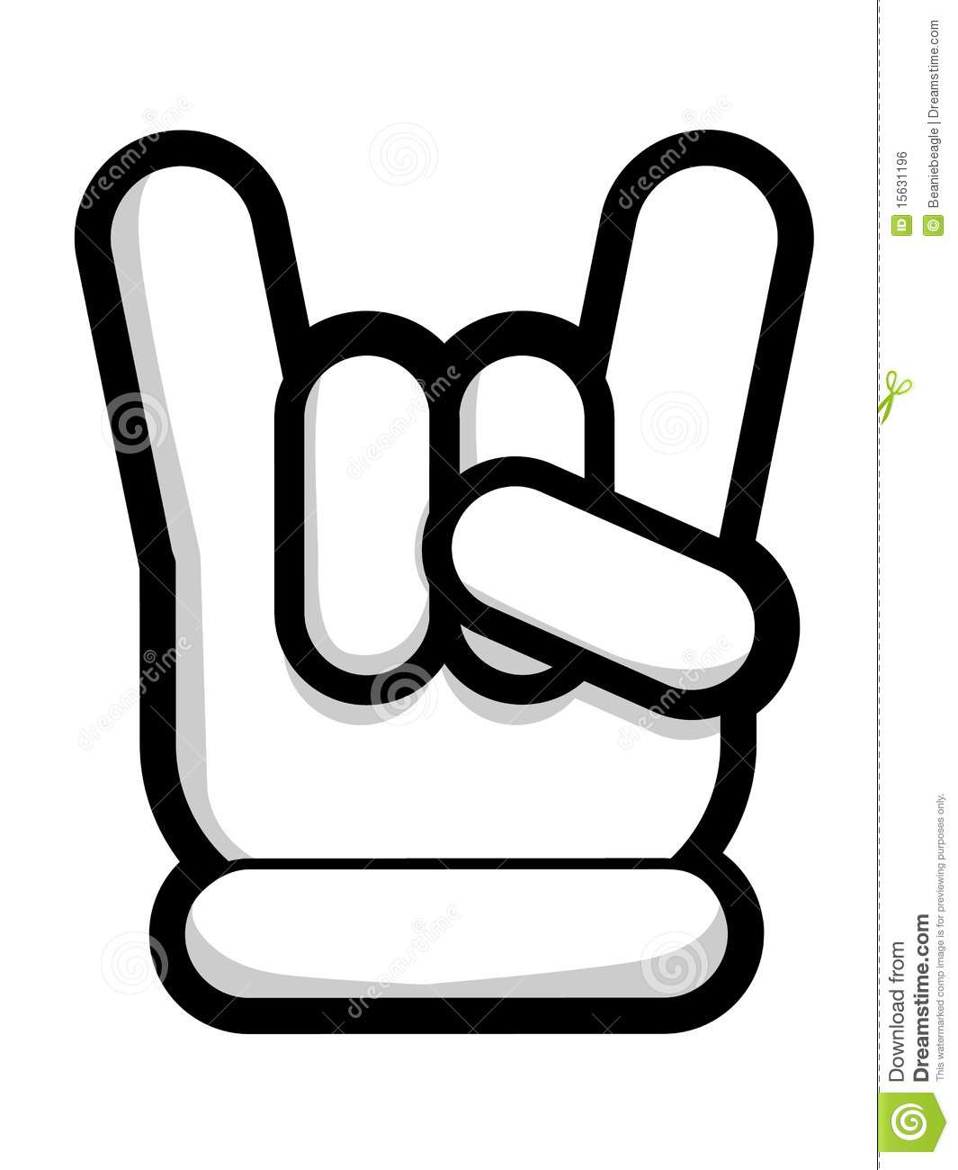 cute variation of the devil horns hand symbol often associated with ...