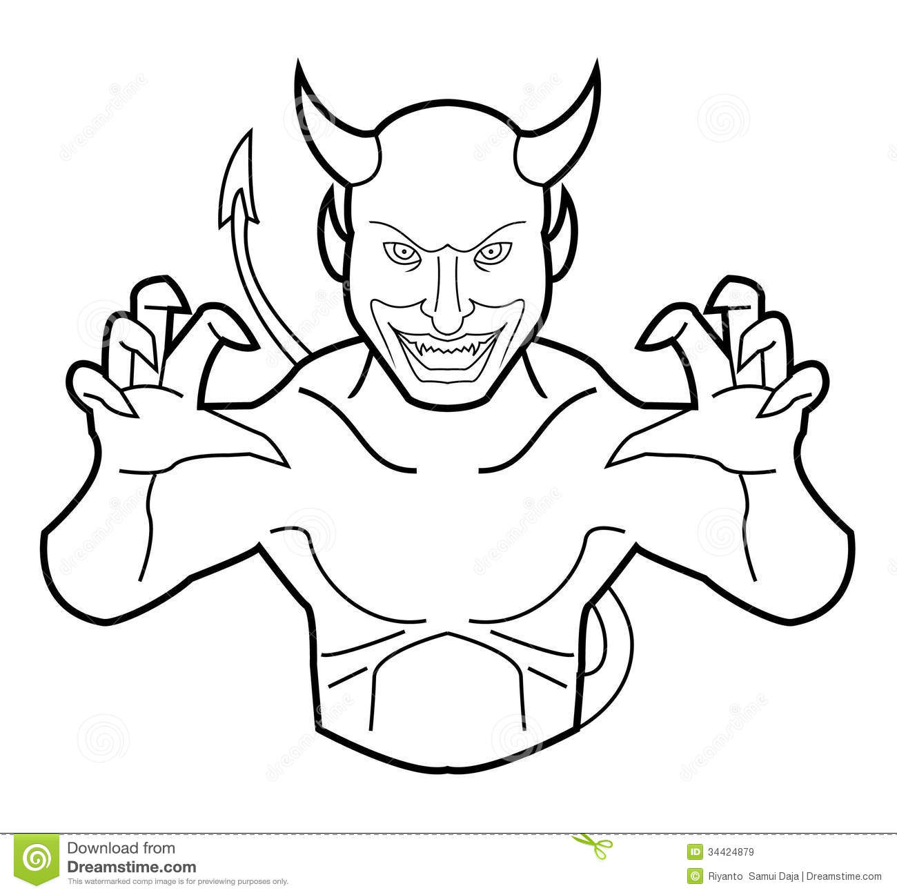 Devil Face Line Drawing : Devil royalty free stock images image