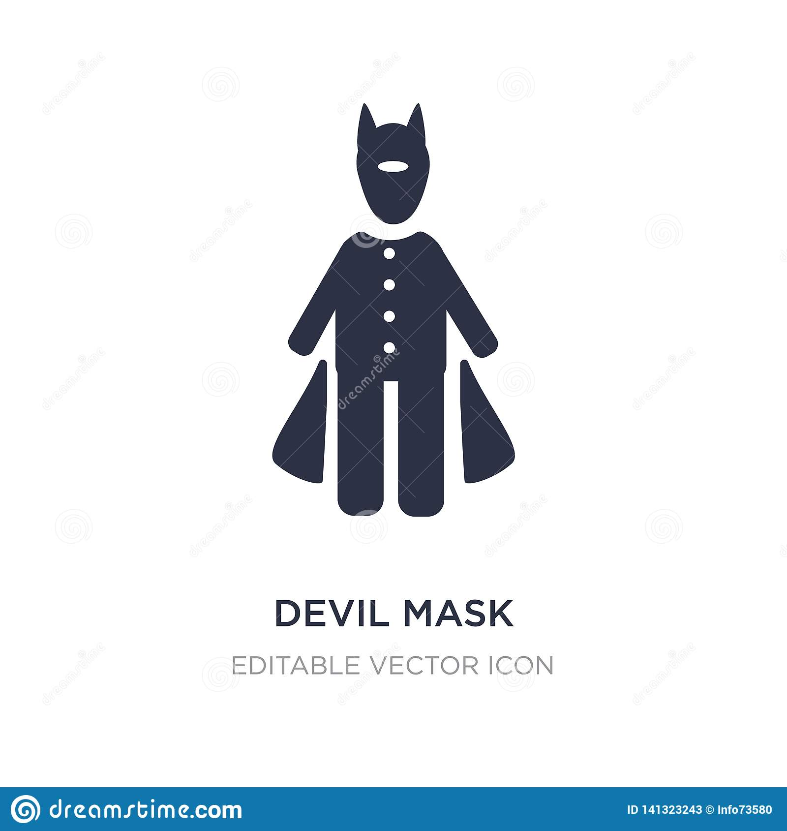 devil mask icon on white background. Simple element illustration from People concept