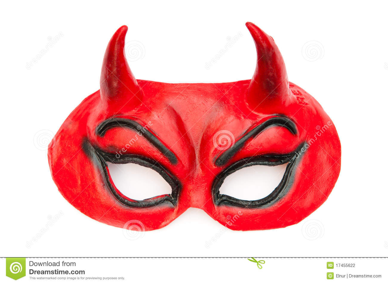 Devil Mask Isolated On The White Stock Photography - Image: 17455622