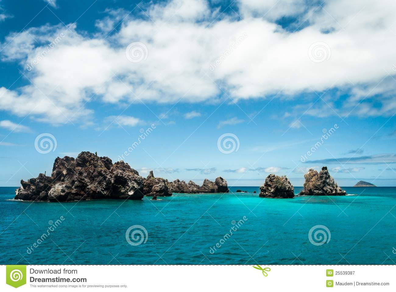 Download Devil's Crown, Galapagos Islands Stock Image - Image of shore, snorkeling: 25539387