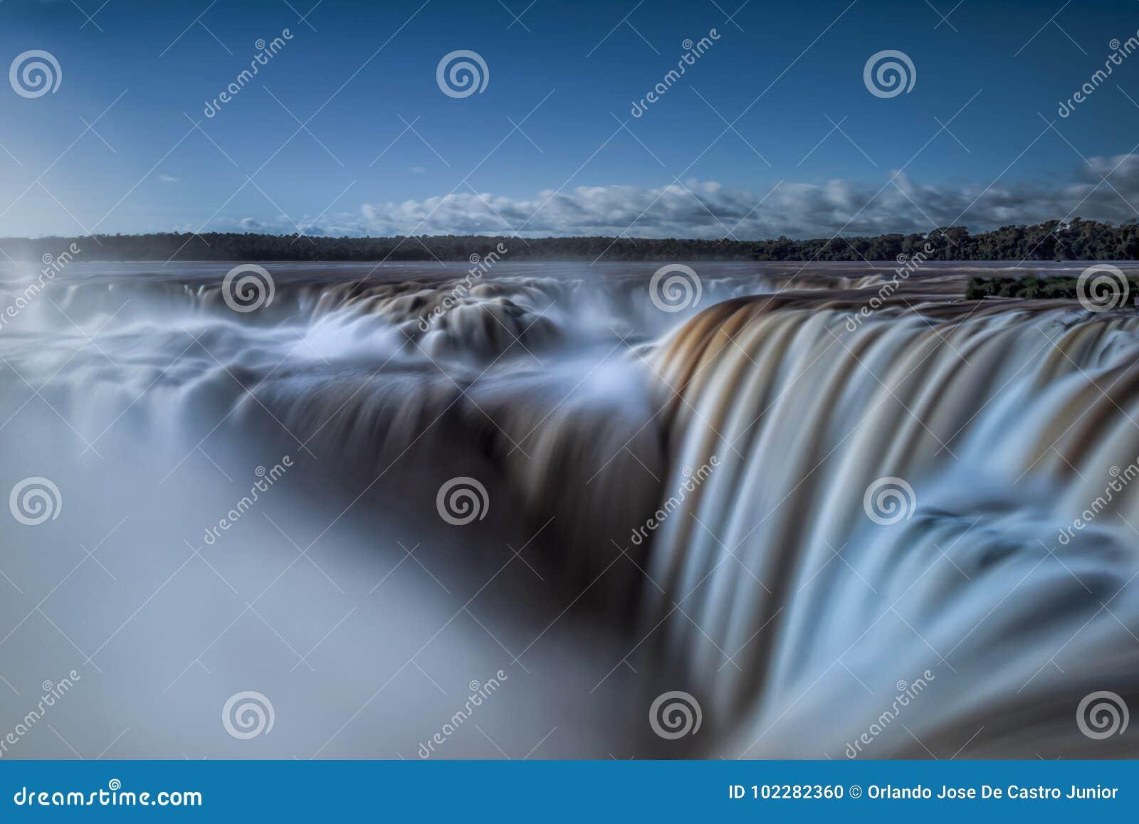 The devil`s throat on Iguazu Falls