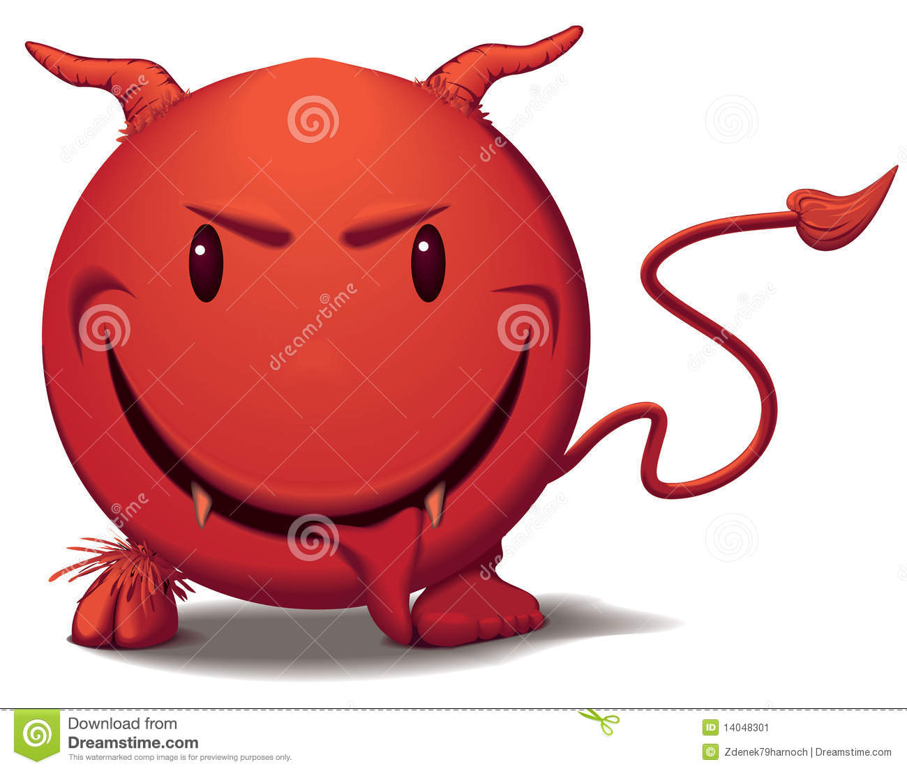 Devil Smile In Red Stock Image - Image: 14048301