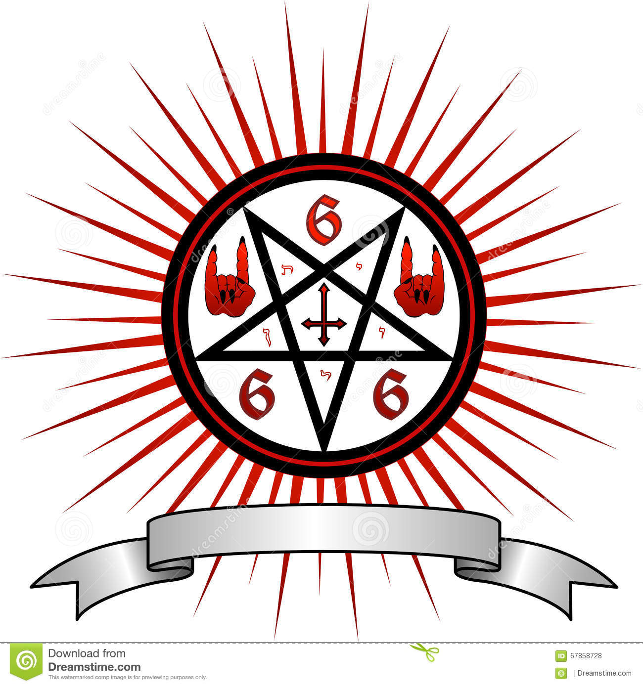 Devil Symbol Stock Illustration Illustration Of Confession 67858728