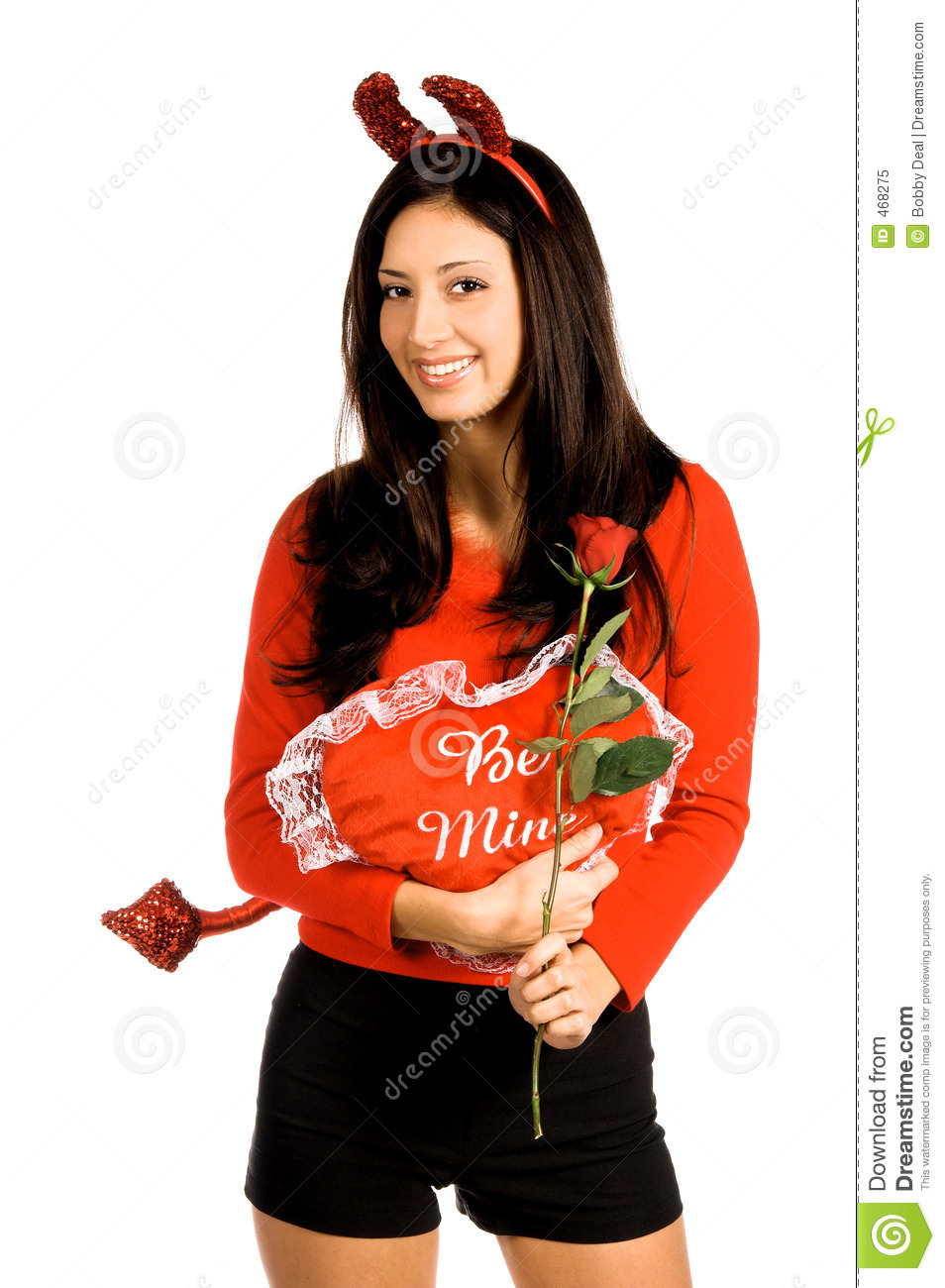 Download Devil Woman Valentine stock image. Image of latina, muscle - 468275