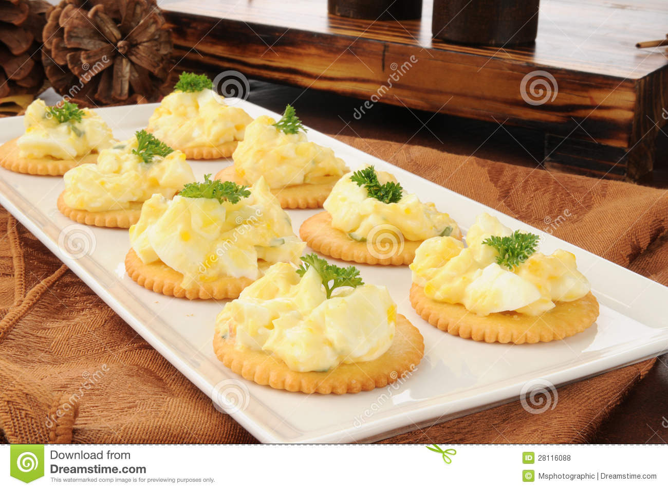 Deviled egg canapes stock photo image of food deviled for What is a canape appetizer