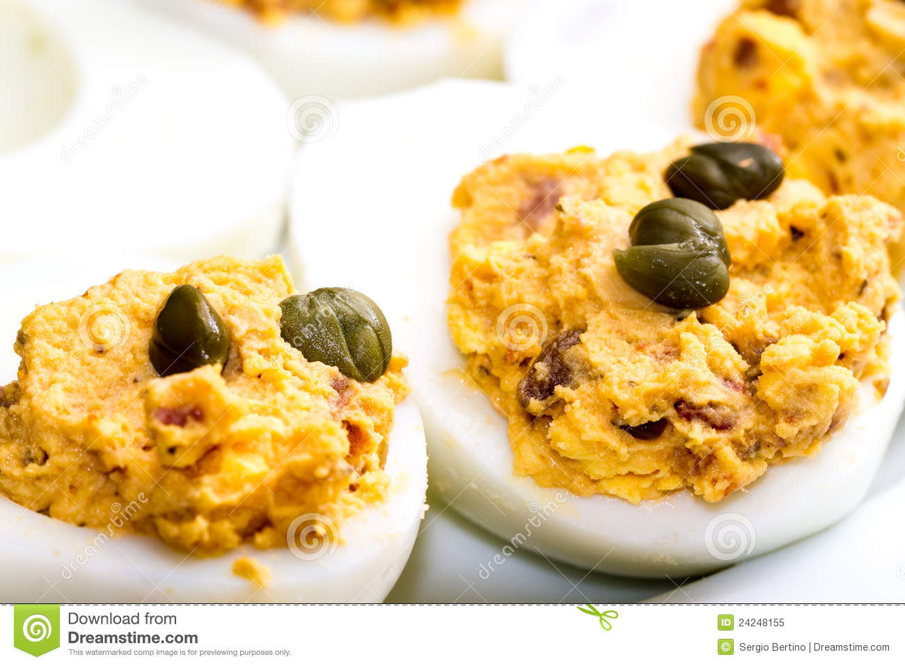Deviled Eggs With Tuna Royalty Free Stock Photo - Image: 24248155