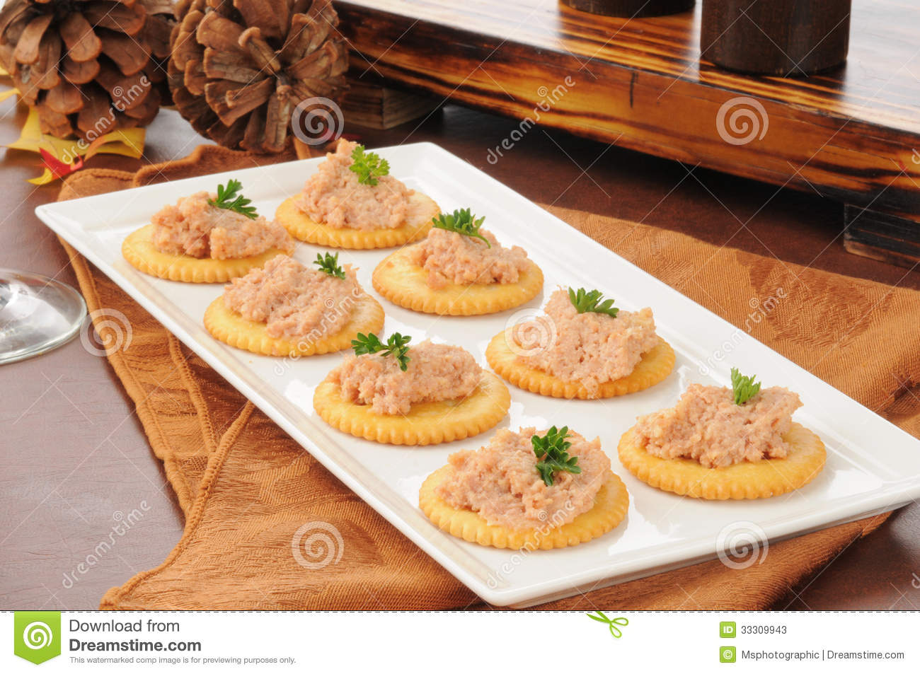 Deviled ham canapes stock image image of deviled for Canape spread