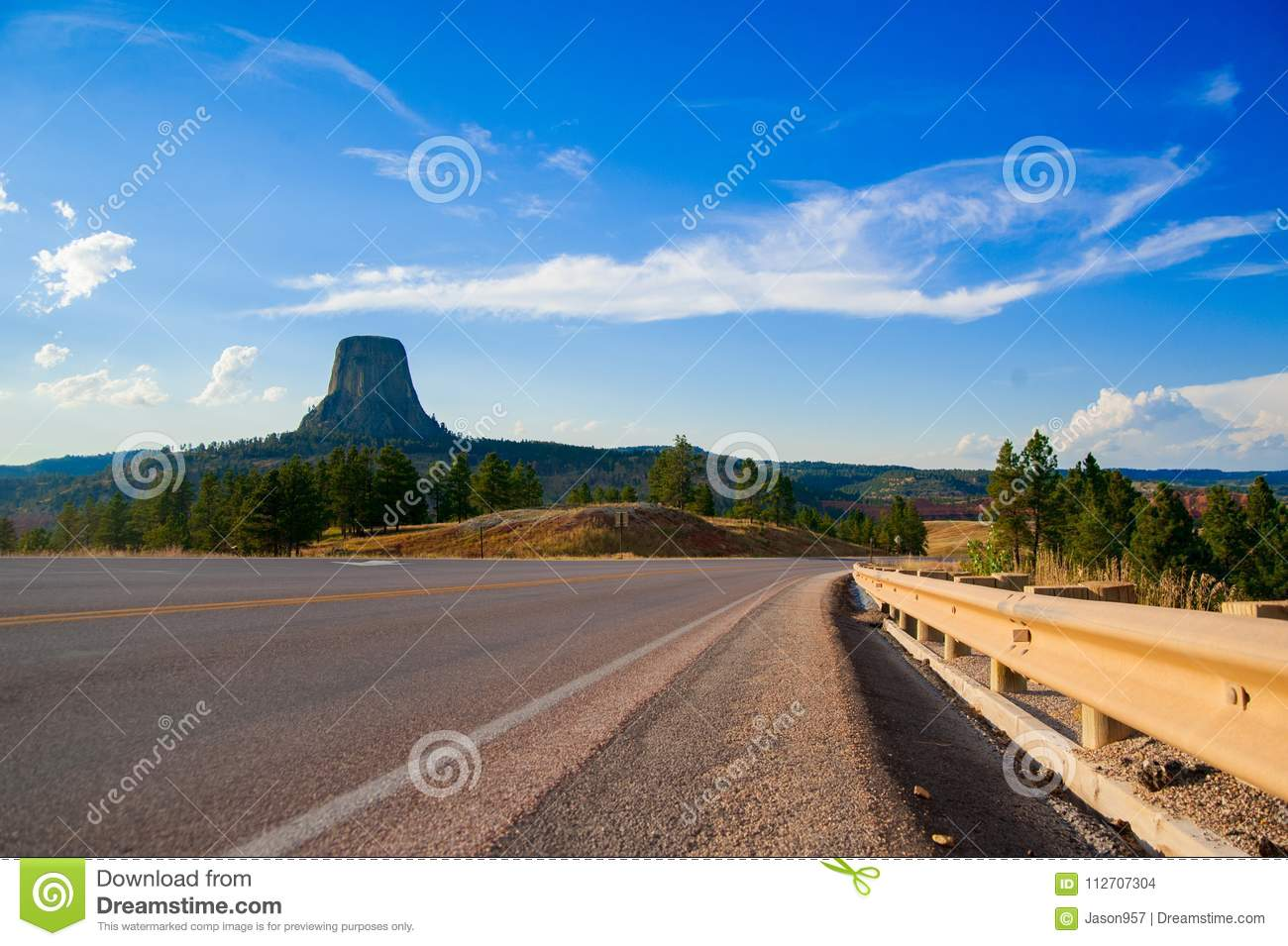 Devils Tower is located in in Crook County, northeastern Wyoming. Also, known as United States National Monument.
