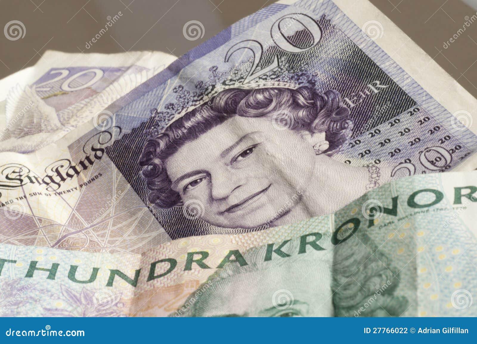 Devise sterling et suédoise