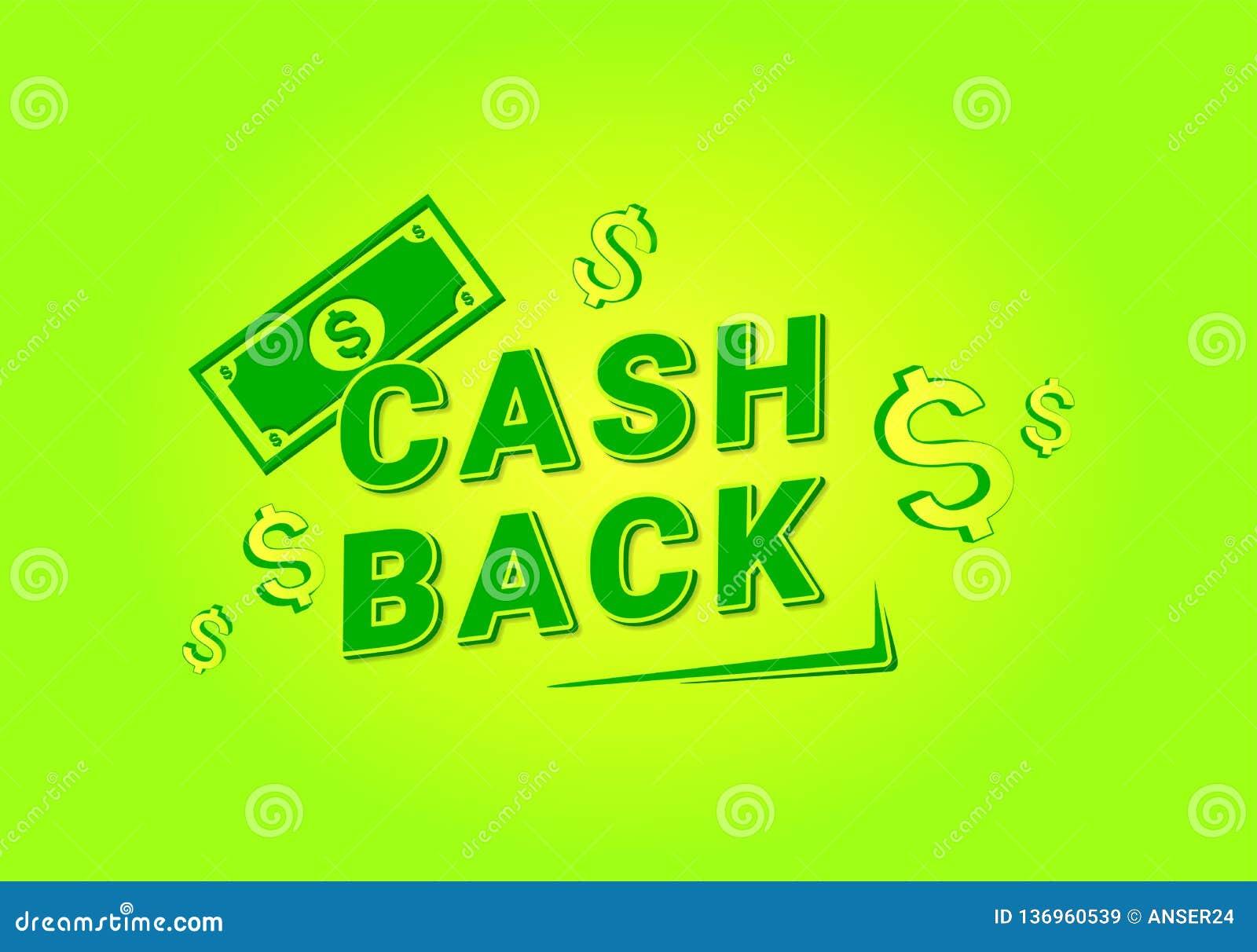 Devolución de efectivo para el diseño de la bandera Dinero, devolución de efectivo, oferta