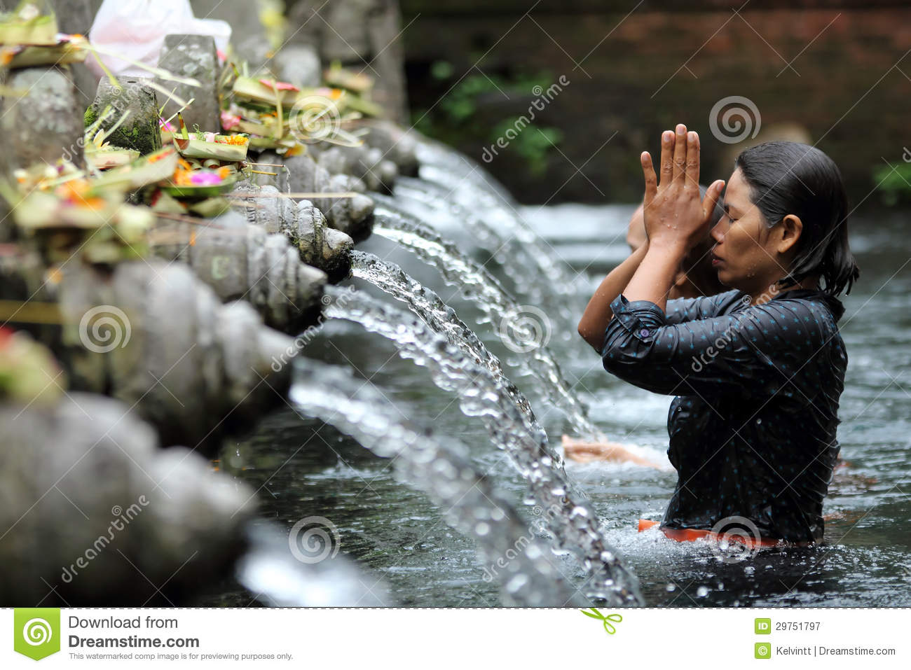 Ritual Bathing at Puru Tirtha Empul, Bali