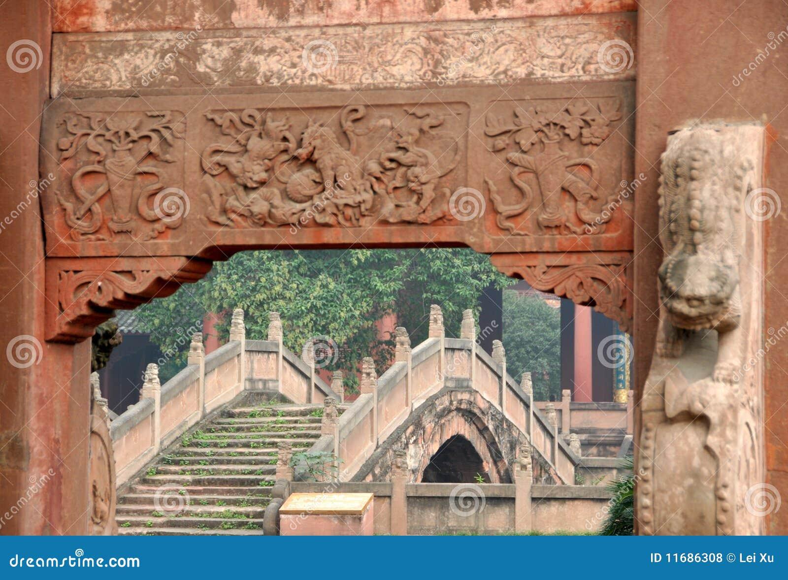 Deyang China  city photos : Deyang, China: Deyang Confucian Temple Royalty Free Stock Photos ...