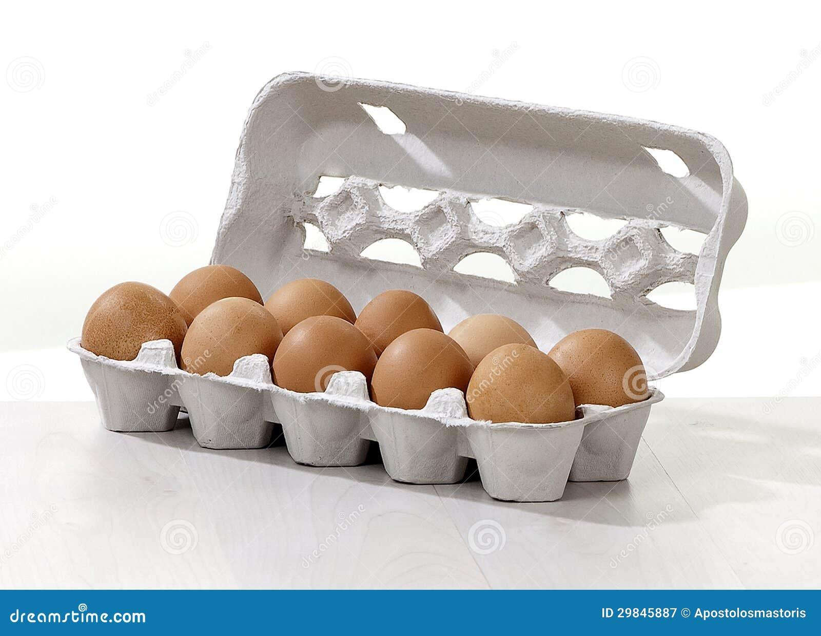 Ovos em uma caixa da caixa
