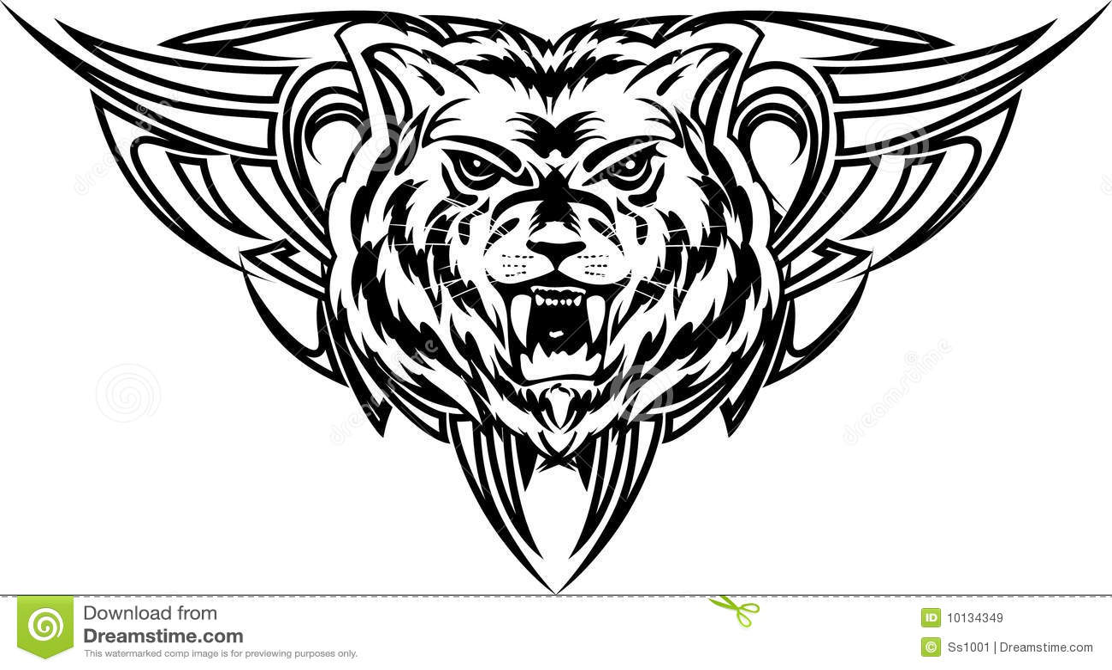 Dezign de tatouage de loup images libres de droits image 10134349 - Tatouage de loup ...