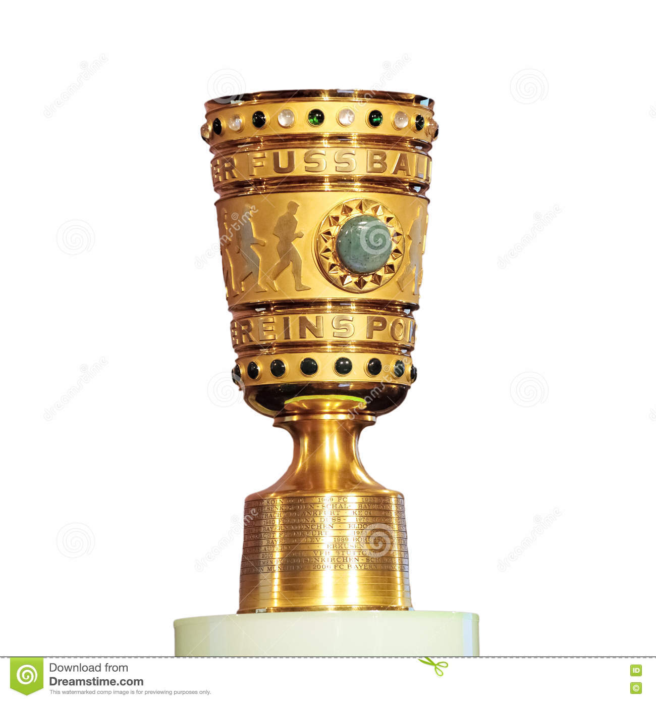 Champions League Trophy Vector DFB-Pokal isolated edi...