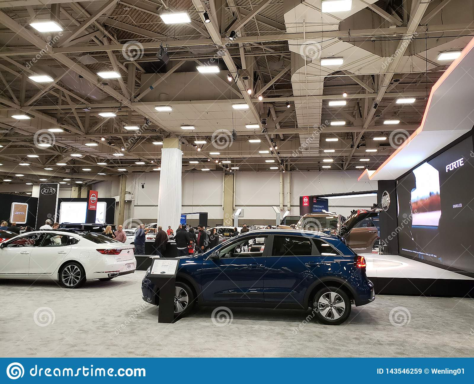 DFW Auto Show Downtown Dallas TX USA 2019 Editorial Stock