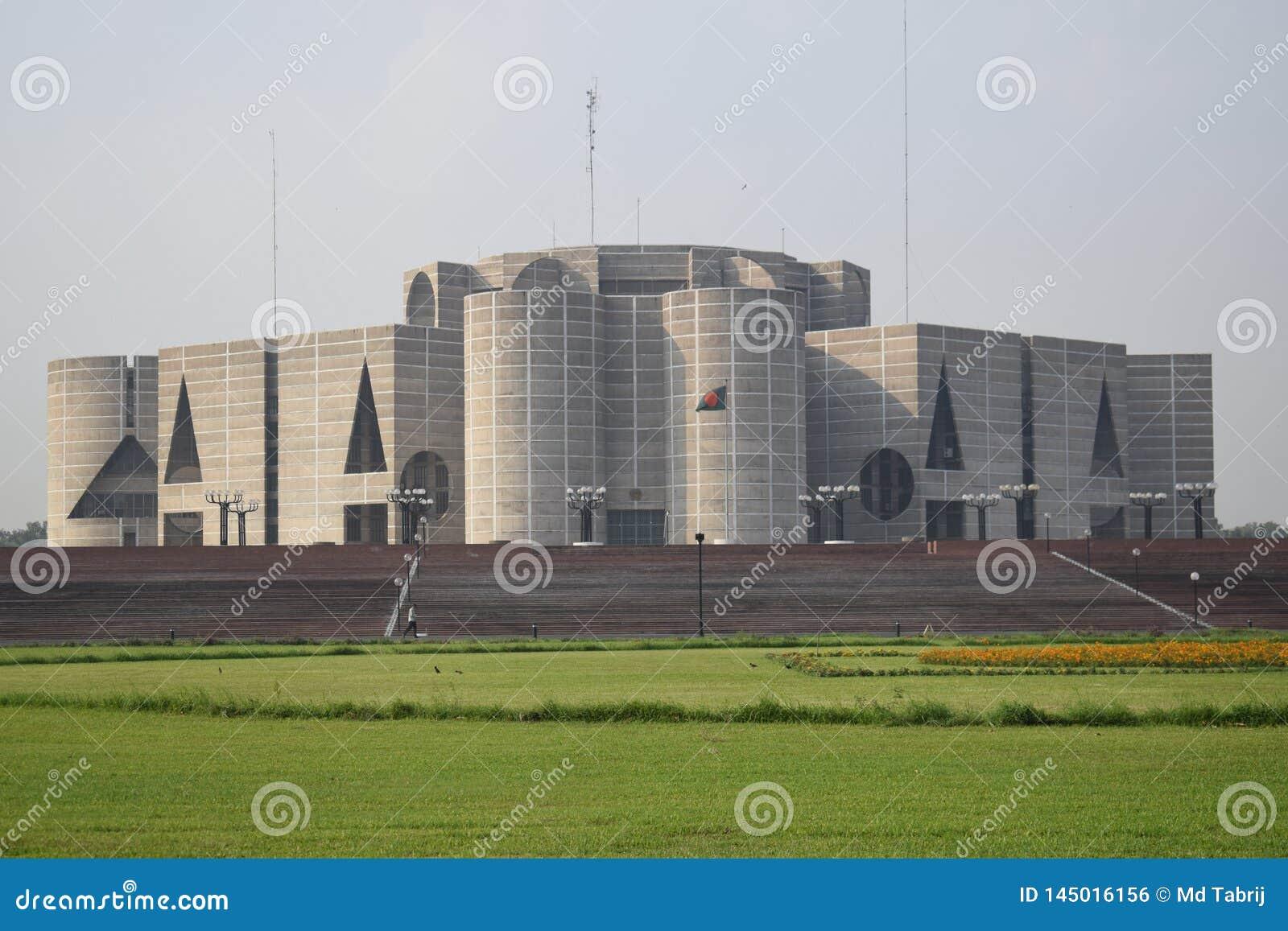 Dhaka, Bangladesh, - 27 januari, 2019: Het nationale Parlement Huis,