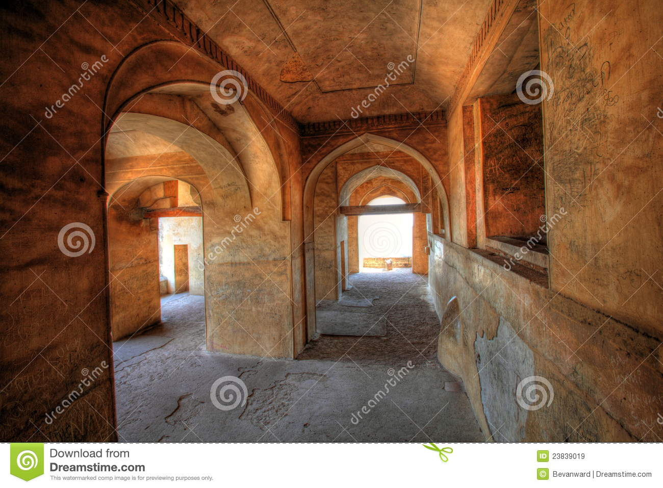 Dharbar Hall arches and detail, Golconda Fort