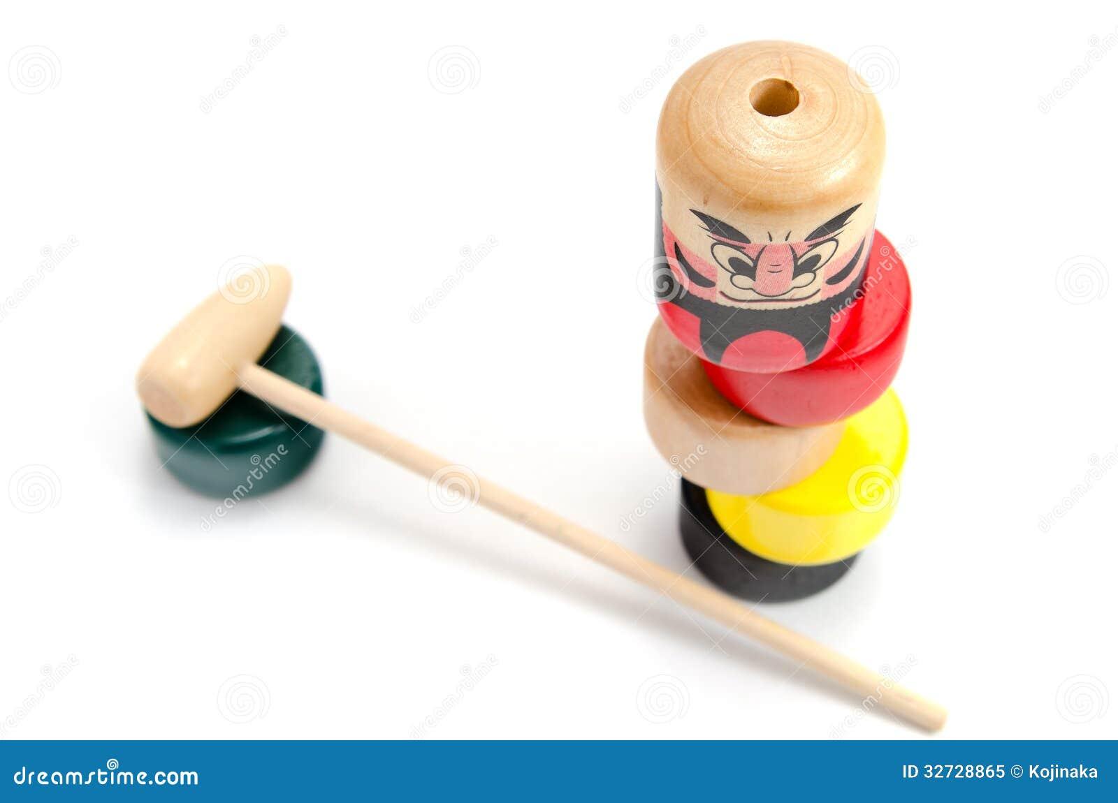 Japan Traditional Toys : Dharma drop daruma otoshi stock image