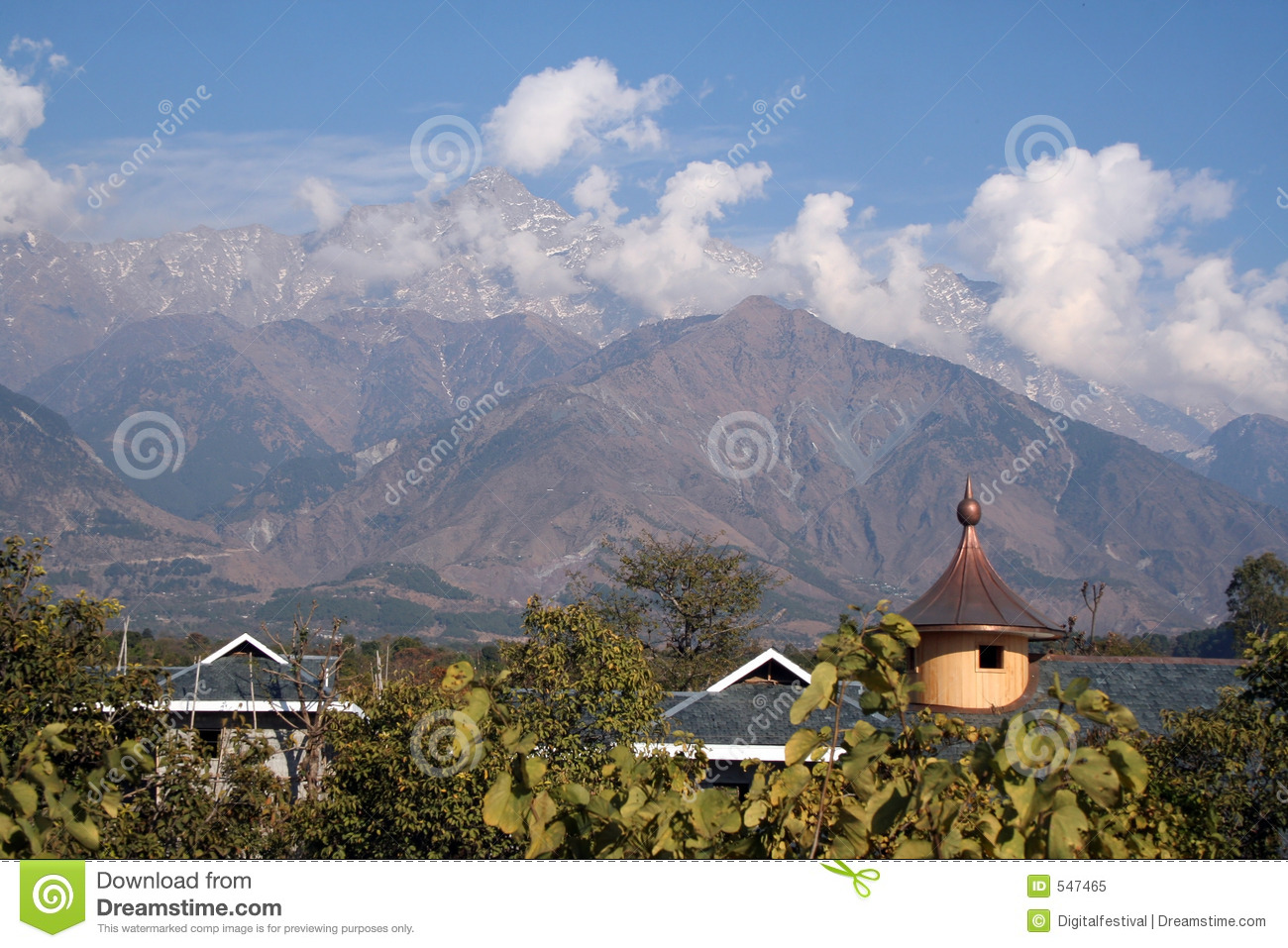 Kangra India  city images : Dhauladhar Himalyas From Kangra In Himachal India Royalty Free Stock ...
