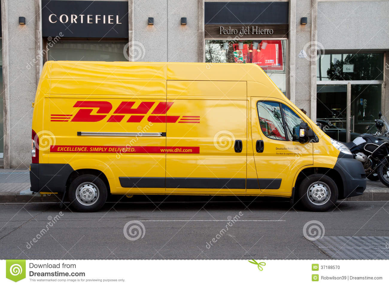 Dhl Delivery Editorial Image Image 37188570