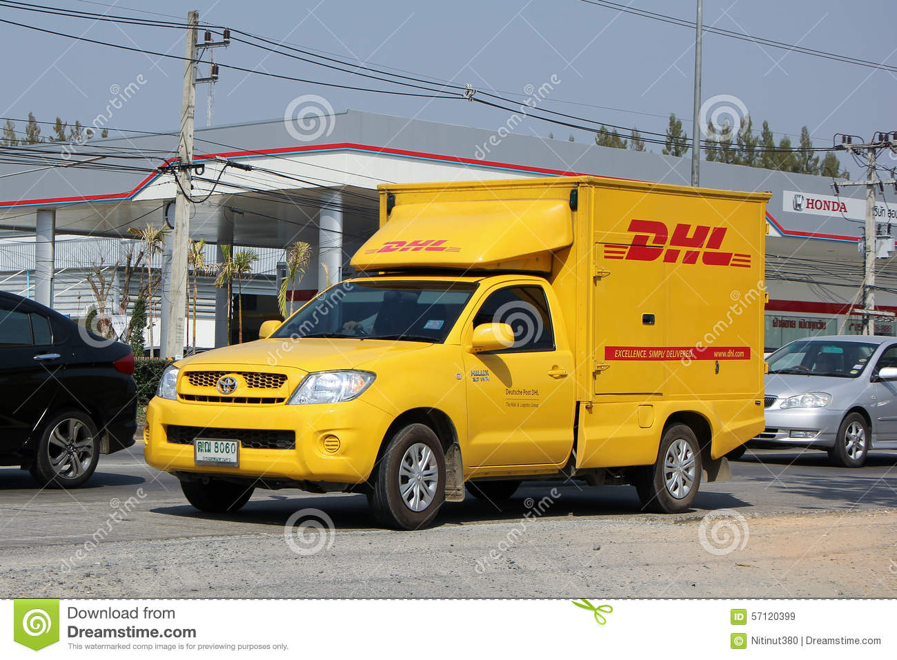 Dhl Pickup Locations >> Dhl Express And Logistics Container Pickup Truck Editorial Stock