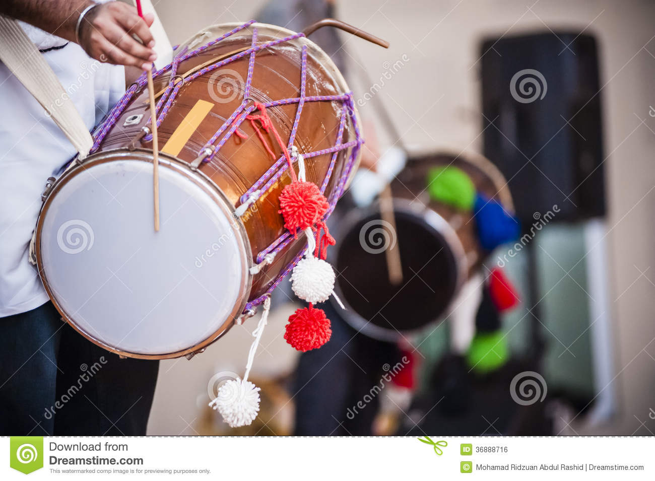 Dhol stock photo  Image of part, body, sound, india, double