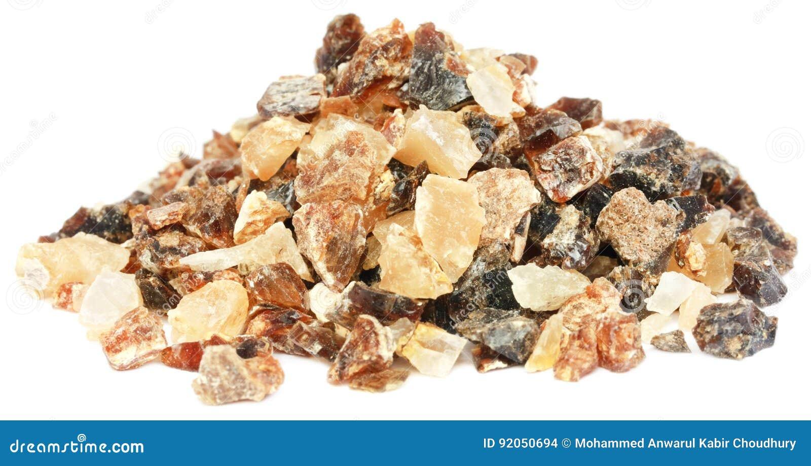 Dhoop del incienso, una resina aromática natural