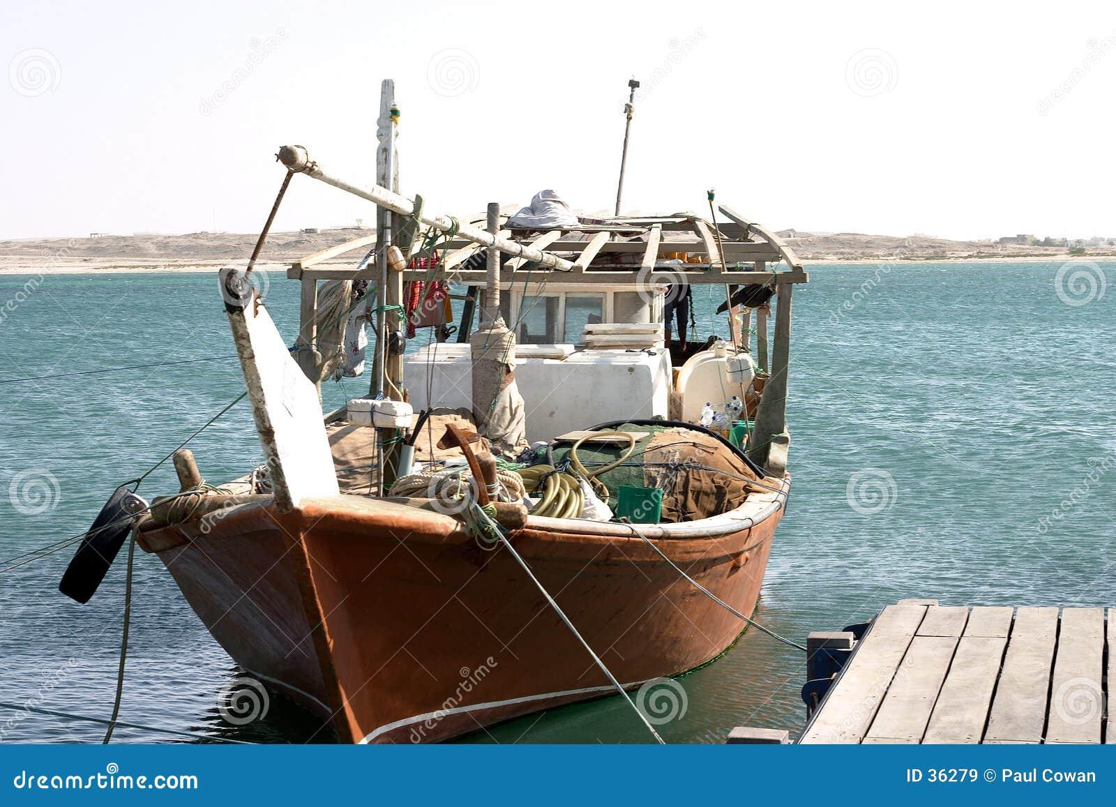 Dhow arabskiej połowowej