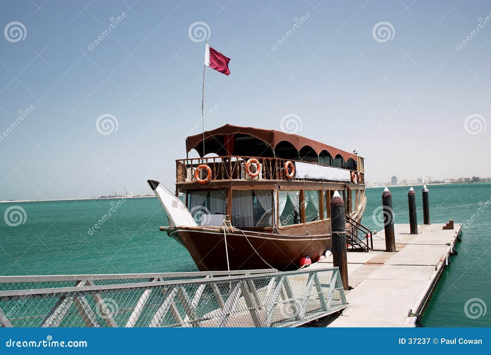 Download Dhow del placer de Qatari imagen de archivo. Imagen de embarcadero - 37237