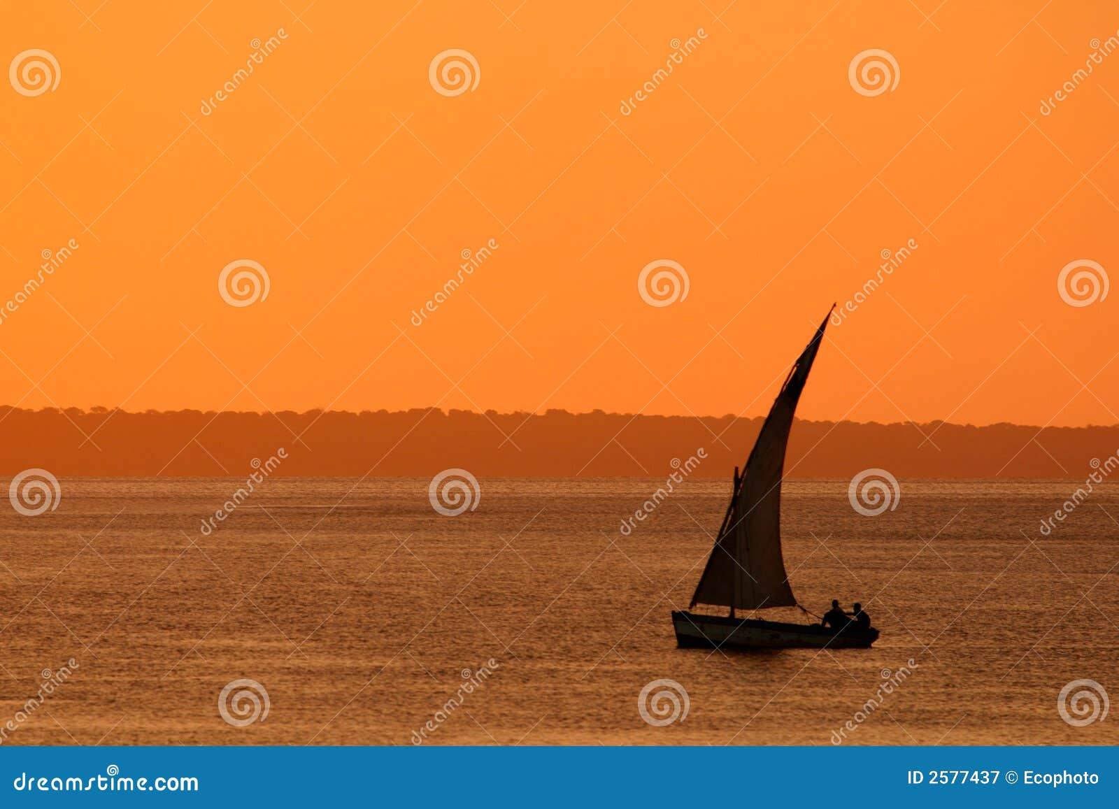 Dhow słońca Mozambiku