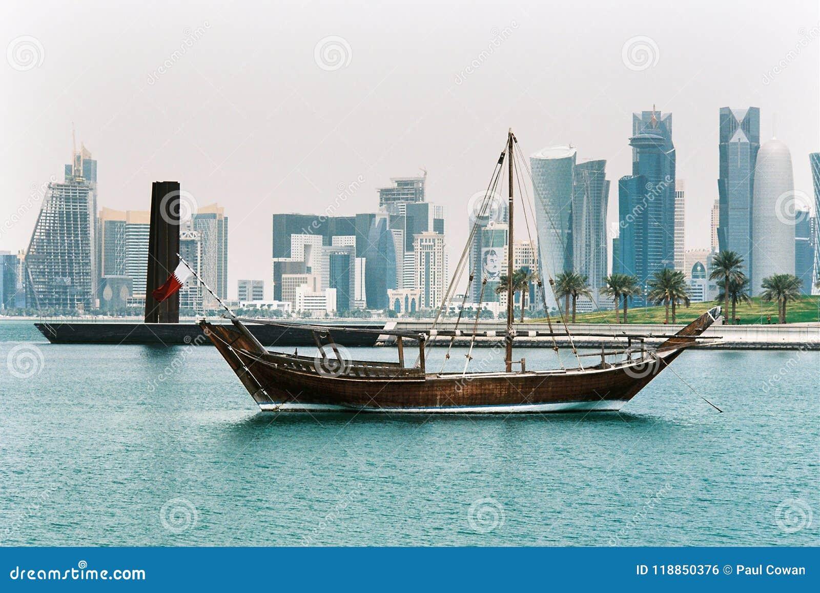 Dhow w Doha z góruje