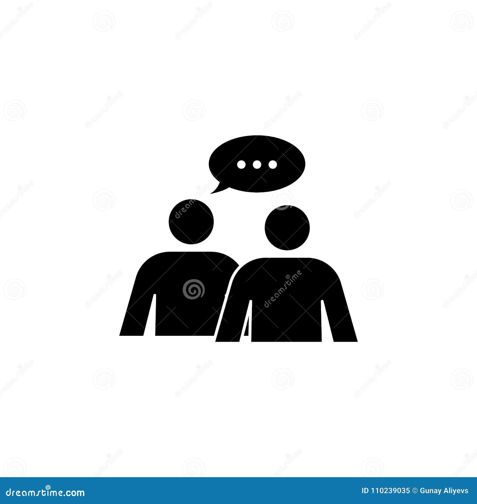 Diálogo del icono de la gente