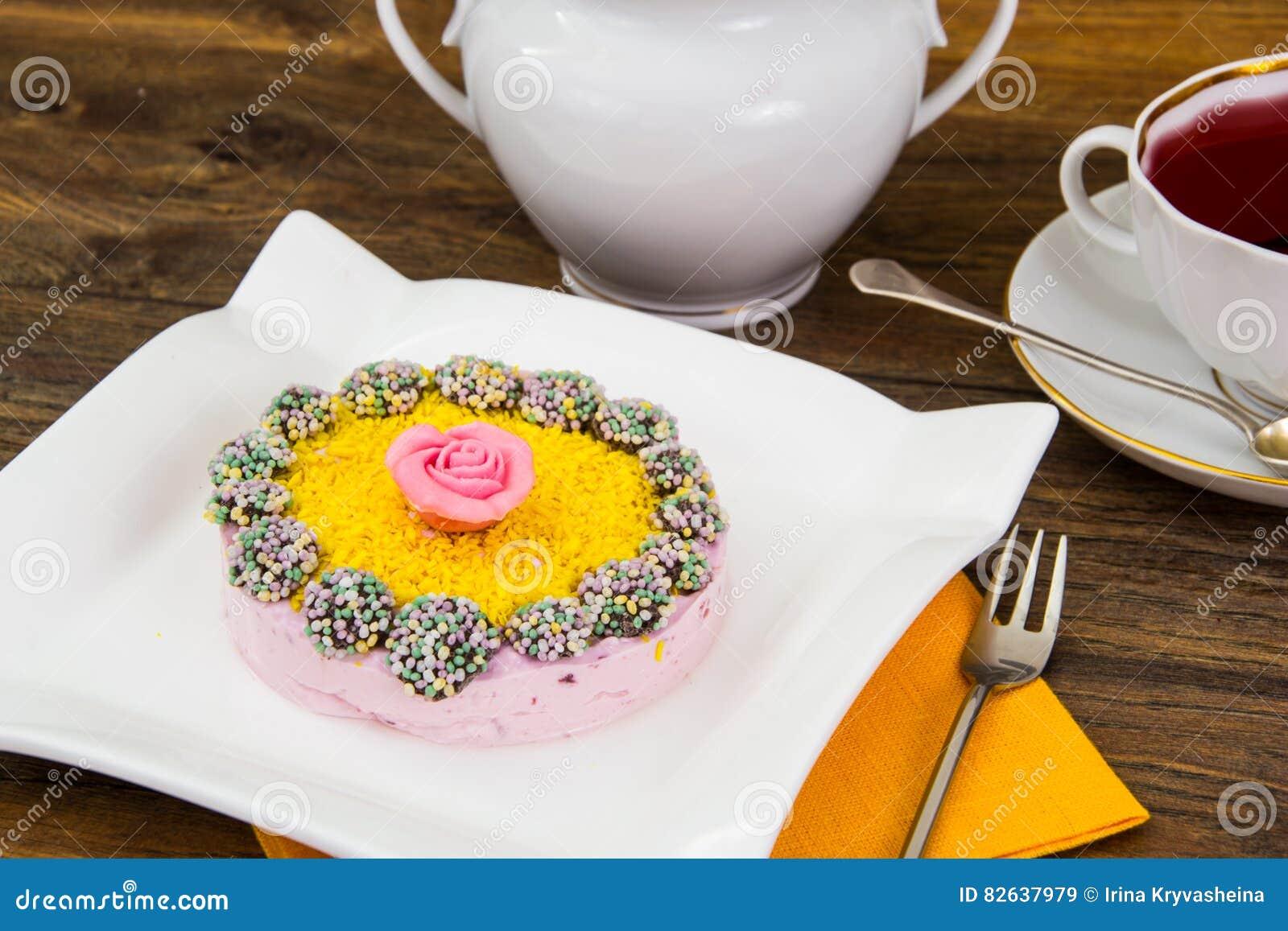 Diat Nachtisch Fruchtgelee Und Gelatine Stockbild Bild Von
