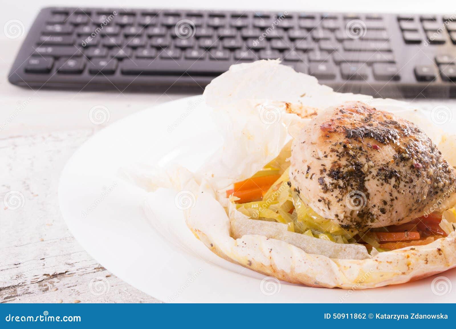 Diatetisches Lebensmittel Fur Arbeit Mittagessen Bei Der Arbeit