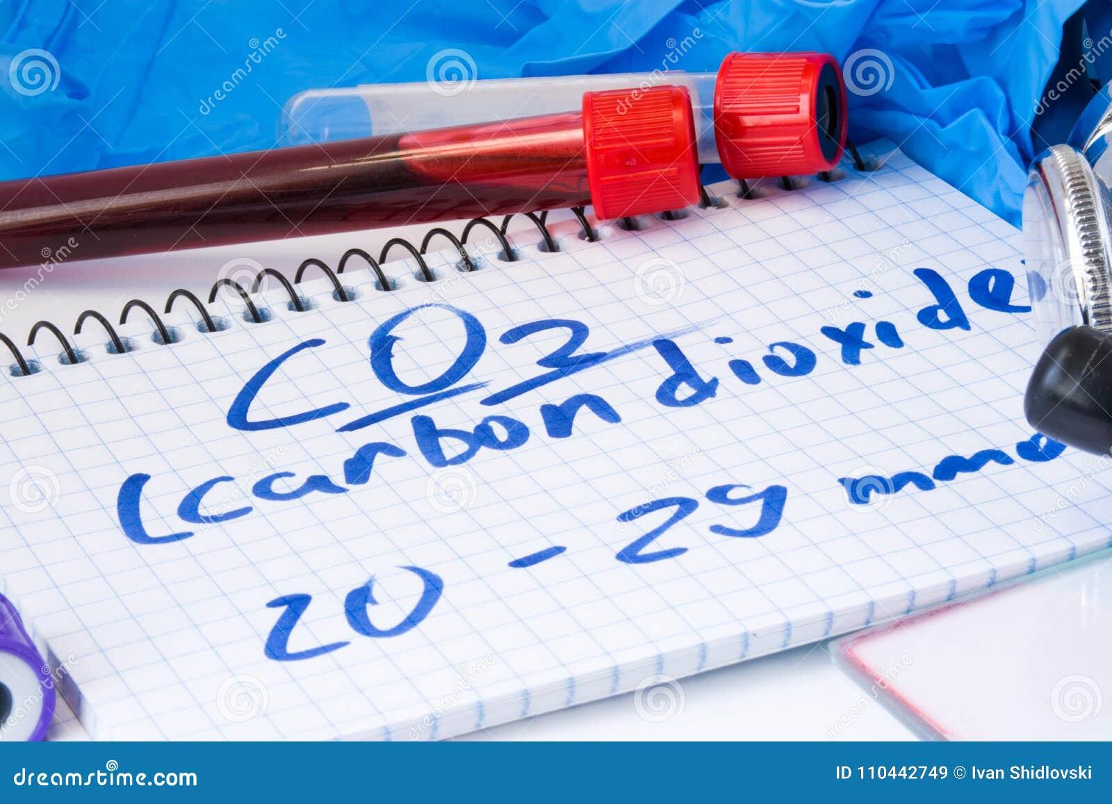 Dióxido Del CO2 O De Carbono En Suero O Sangre En Tubos De Ensayo ...
