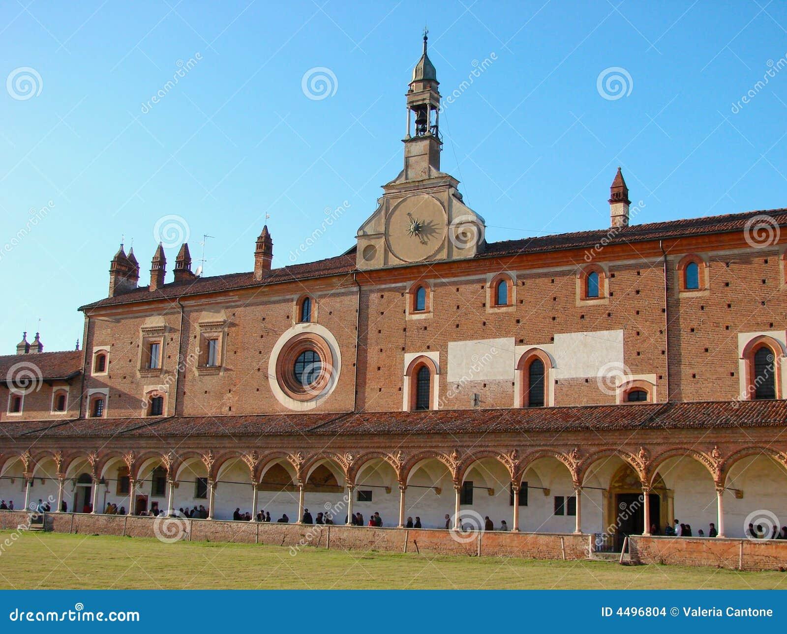 Di грандиозный pavia монастыря certosa