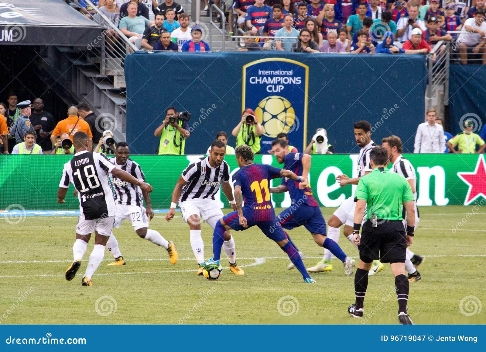 ` 2017 di Int l FC Barcelona della tazza di campioni contro Juventus