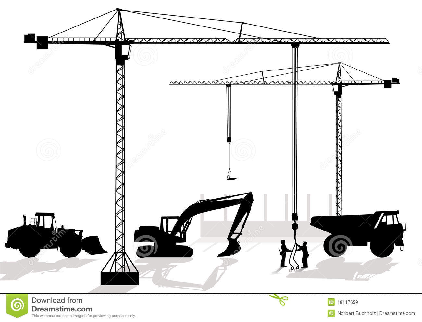 Di lavoro al cantiere immagini stock libere da diritti for Cantiere di costruzione