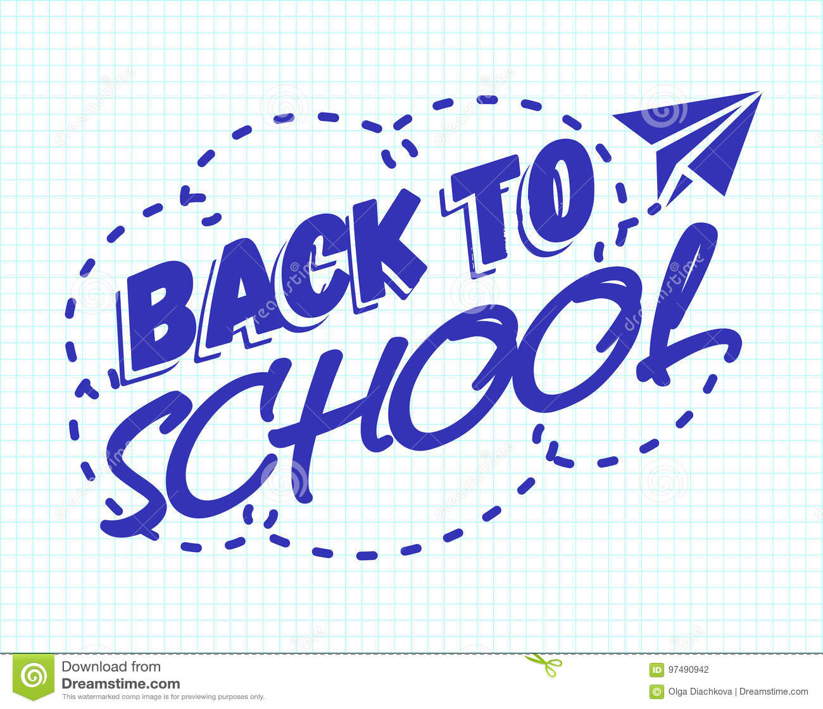 Di nuovo colore dell emblema della scuola a ciano che consiste dell aereo di carta sul ch
