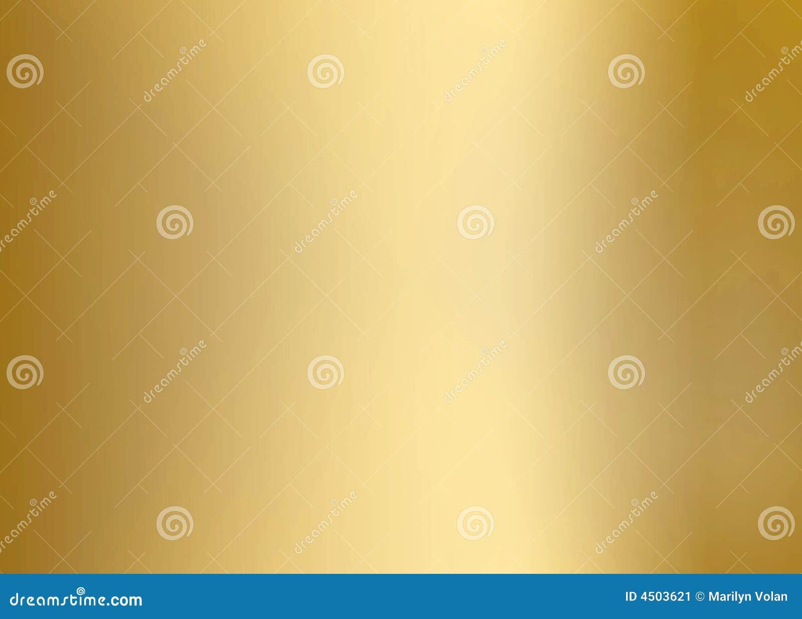 Di piastra metallica liscio dell oro