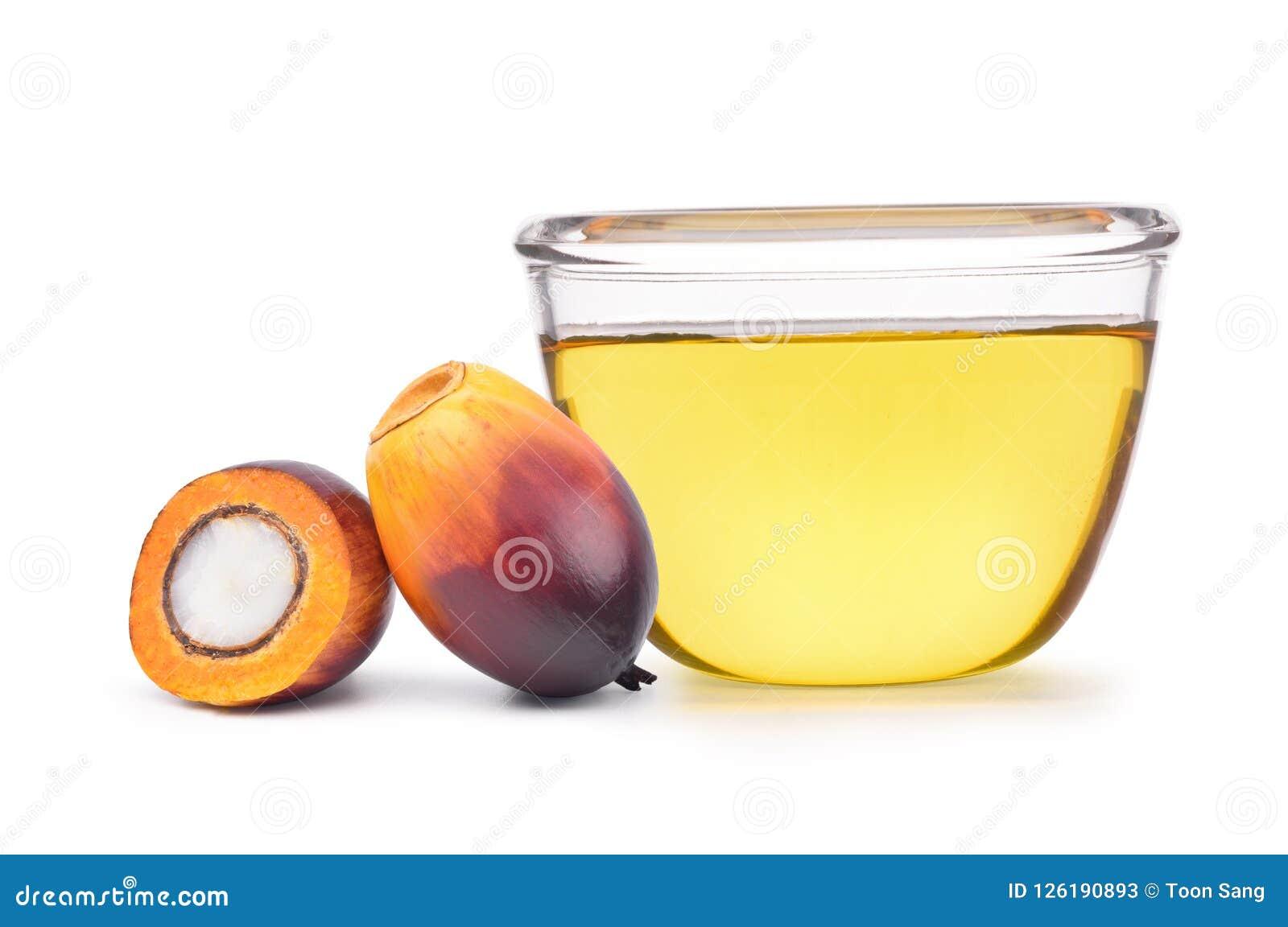Di recente seme e taglio della palma da olio a metà