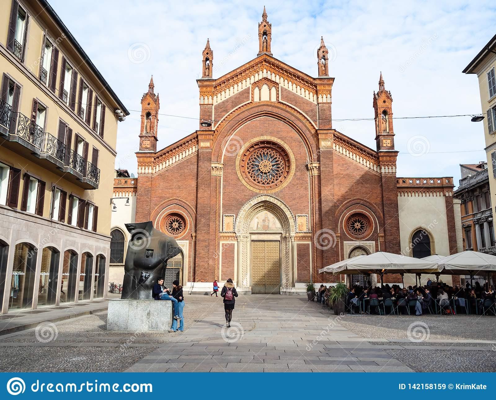 Di Santa Maria del Carmine van kerkchiesa in Milaan