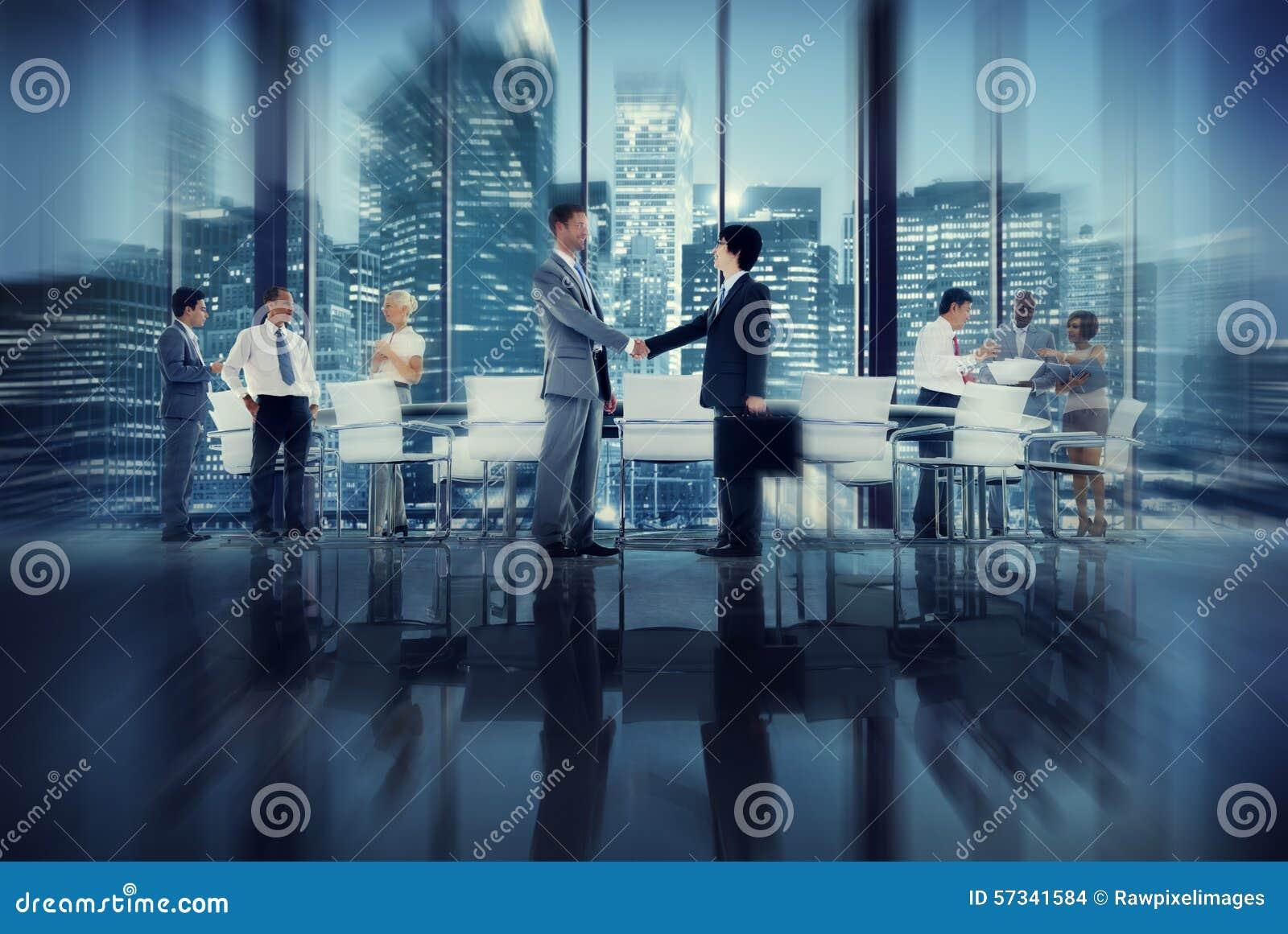 Di Team Teamwork Meeting Conference Conce della stretta di mano gente di affari