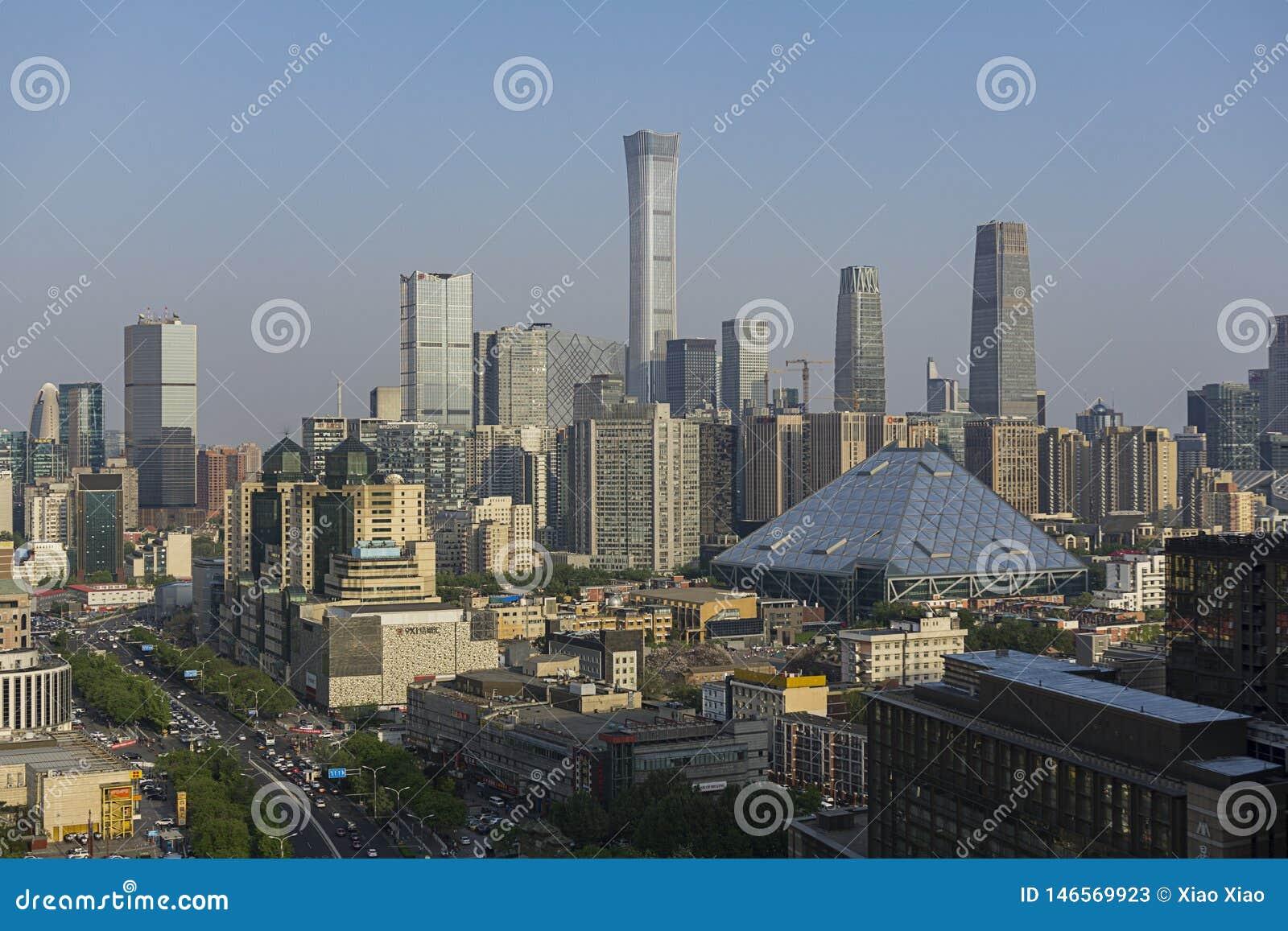 Dia da skyline do Pequim