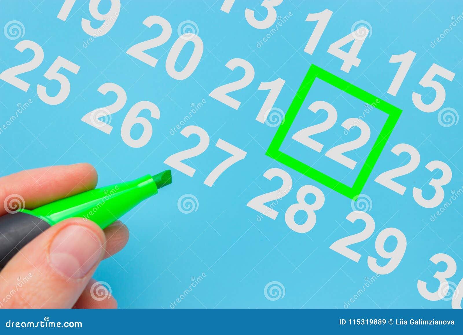 Dia da Terra marcado no calendário